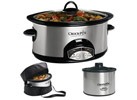 Crock Pot 6-Qt. Slow Cooker w/ Travel Bag & Little Dipper SCCPVP609-S