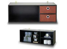 Furinno Wall-Mounted Storage Desk Hutch (Espresso/Brown)