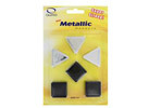 Quartet Silver & Graphite Metallic Magnets, 6/Pk