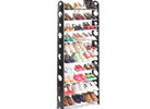 30-Pair Convertible Shoe Rack with Zippered Cover