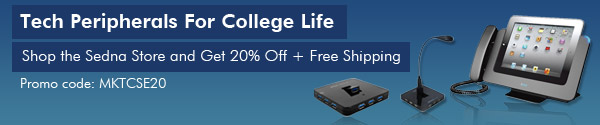Tech Peripherals For College Life 20% Off + Free Shipping