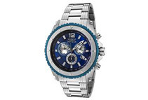 Invicta II Men's Blue Dial Stainless Steel Chronograph Watch