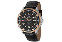 Bulova Marine Star Men's Black Dial Leather Analog Watch