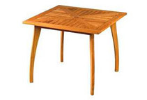 Royal Tahiti Yellow Balau Square Table