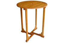 Royal Tahiti Yellow Balau Bar-Height Round Table