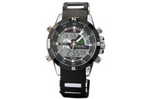 Shark Men's Military LCD Dual Time Chronograph Watch