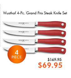 Wusthof 4-Pc. Grand Prix Steak Knife Set, Red