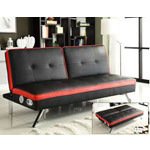 Studio Sleeper Sofa with Built-In Sound System