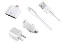 Lighting USB Cable, AC Charger, Car Charger + 8 Pin to 30 Pin USB Converter by ARMORVIEW