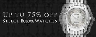 Up to 75% off Select Bulova Watches