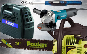 Automotive tools and outdoor power equipment, starting at $15.99
