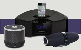 Boost your home with swinging speakers and cordless phones.