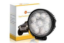 TaoTronics Round 27W LED Work Lamp Off Road Floodlight