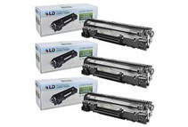 Remanufactured LD Replacement Black Laser Toner Cartridges for HP CE278A / 78A (3-Pack)