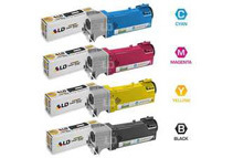 LD 4 Color High Yield Toner Cartridges For Dell 2150 / 2155