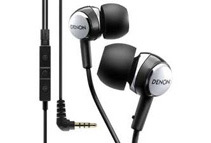 Denon AH-C260R Mobile Elite In-Ear Headphones, Black