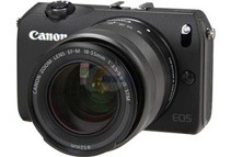 Canon EOS M 18 MP 3.0inch LCD Compact Mirrorless System Camera  with Lens, Black