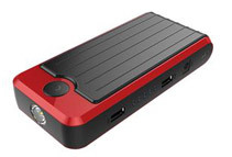 PowerAll Portable 12000 mAh Dual 5V USB Power Bank, Car Jump Starter & LED Flash / SOS Light + 8 Adapter Plugs