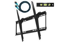 Cheetah Mounts Ultra Flush 32inch-65inch LCD LED Flat Screen TV Bracket Wall Mount w/ Integrated Bubble Level