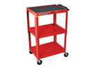 3-Shelf Adjustable Height Multipurpose AV Cart