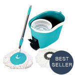 Tooluxe 360 Degree Rotating Spin Mop and Bucket System