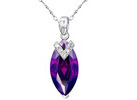 Mabella Sterling Silver Gemstone Pendant with 18inch Chain (2 Styles)