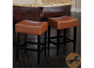 Christopher Knight Home Lopez Backless Leather Counterstools, Hazelnut (2-Piece)
