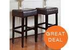 Christopher Knight Home Backless Barstool, Espresso (2-Piece)