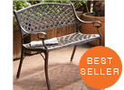 Cozumel Antique Copper Cast Aluminum Bench
