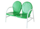 Outdoor Metal Loveseat, Grasshopper Green