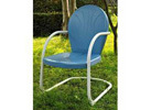Outdoor Metal Chair, Sky Blue