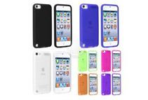 7 x Gel Soft Silicone Case - Black, Hot Pink, Clear, Blue, Green, Purple, Orange compatible w/ Apple iPod Touch 5 / 5th Generation