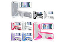 8 LOT S Shape TPU Gel Skin w/ Stand Case Cover Compatible with Apple iPhone 5