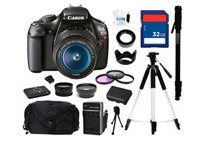 Canon EOS REBEL T3 12.2 MP Digital SLR Camera - Comes With Complete Kit