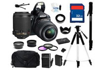 Nikon D3100 14.2MP Digital SLR Camera - Comes With Complete Kit