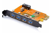 ORICO 4-Port Desktop USB PCI Express Card - Compatible for both MAC & Windows