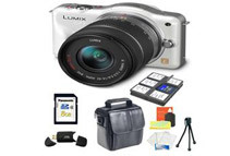 Panasonic LUMIX DMC-GF3KW Camera - Comes With Accessory Starter Kit