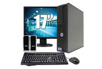 Refurbished: Dell Optiplex Desktop Computer - Equipped With 2.8GHz Pentium 4 Processor, 17 LCD, & Windows 7