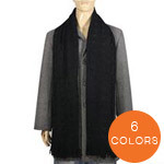 DAHLIA Cashmere Feel Knitted Tassel End Scarf
