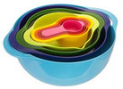 Multicolor 8-Piece Mixing Bowl Set