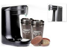 BREW1 Coffee Maker with Travel Mugs and Reusable Capsule