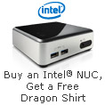Buy a select Intel NUC and Get a limited edition Dragon Shirt