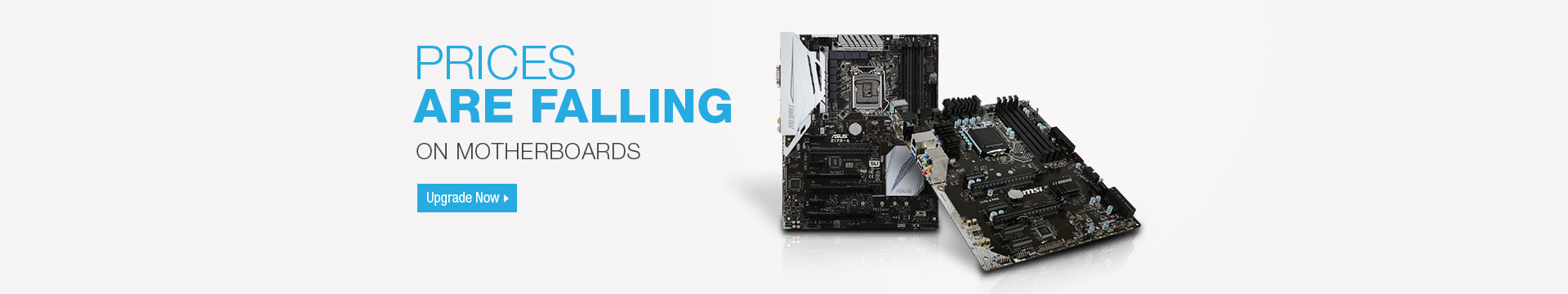 Prices are falling on motherboards