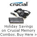 Holiday Savings on Crucial Memory Combos
