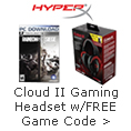 Cloud II gaming headset w/ FREE game code