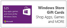 Windows store gift cards shop apps, games and more