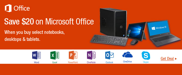 Save $20 on Microsoft Office
