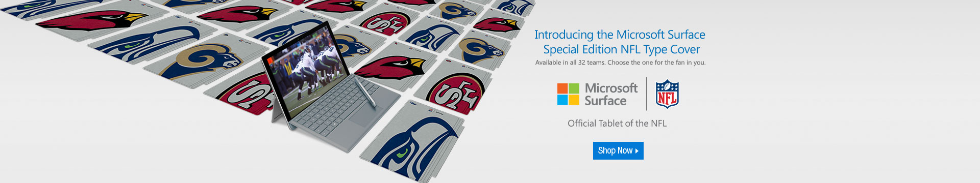 Introducing the Microsoft Surface Special Edition NFL Type Covers