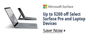 Up to $200 Select Surface Pro and Laptop Devices