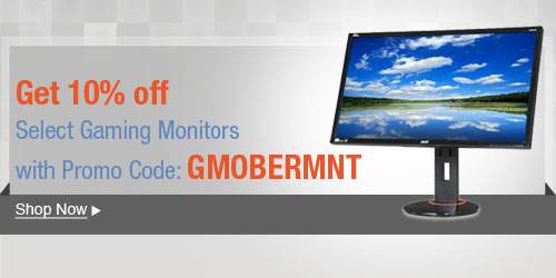 Get 10% off Gaming Monitors with Promo Code